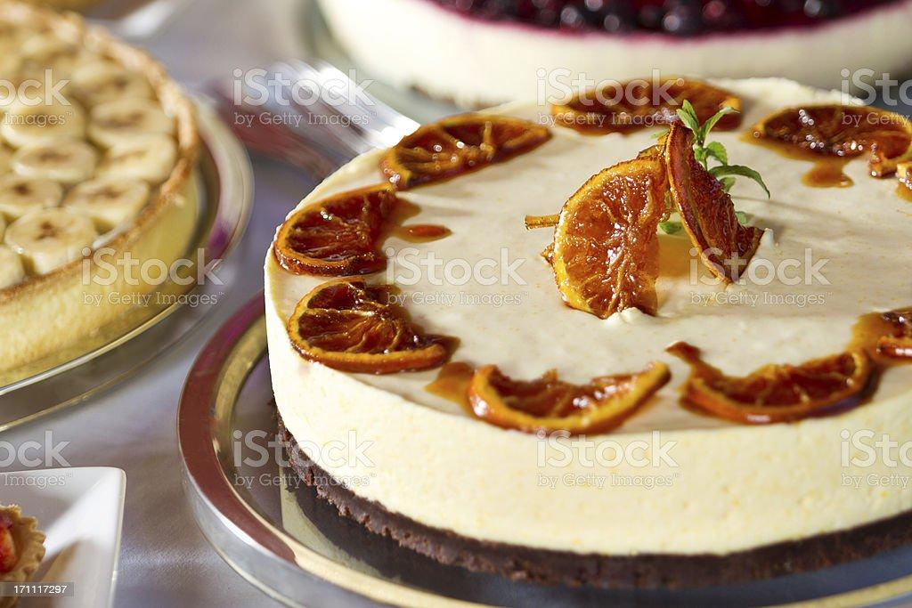 Orange mousee cake's close-up royalty-free stock photo
