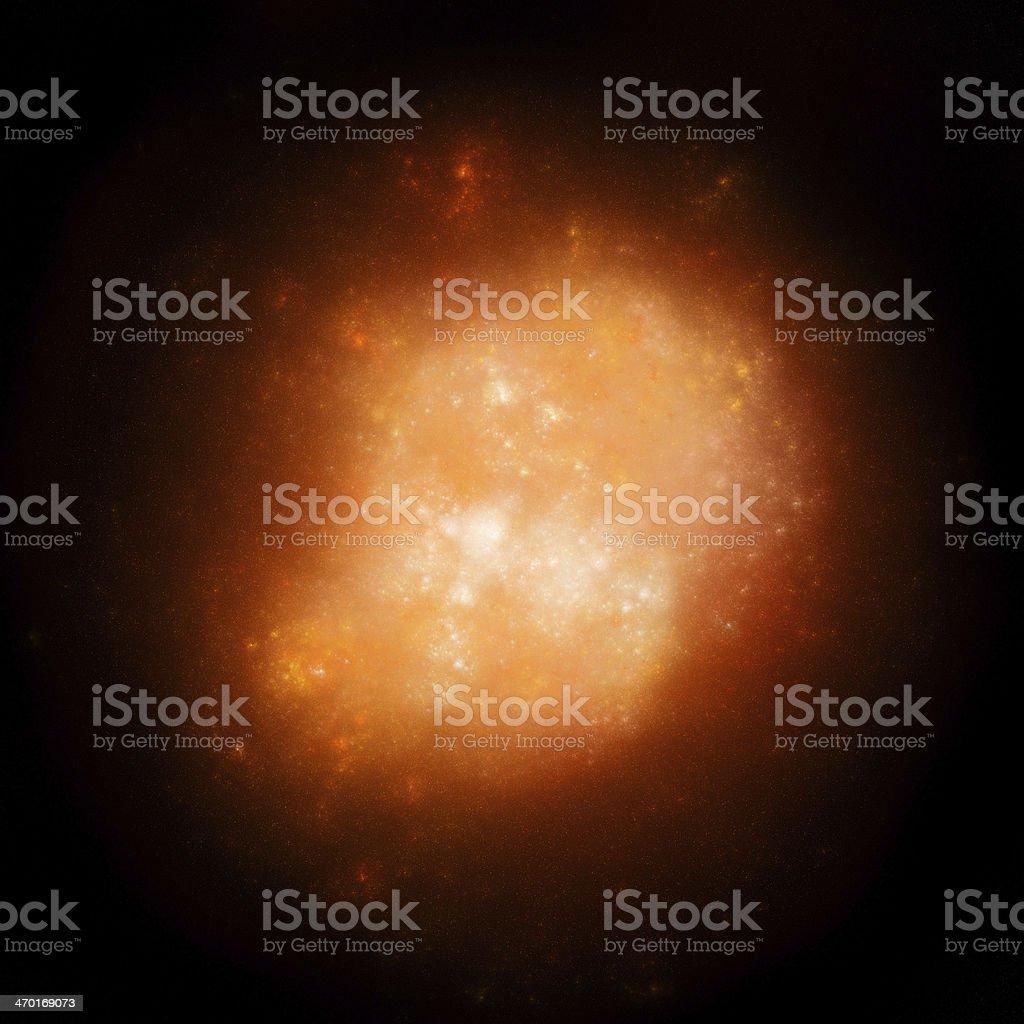 Orange nebula in space royalty-free stock photo