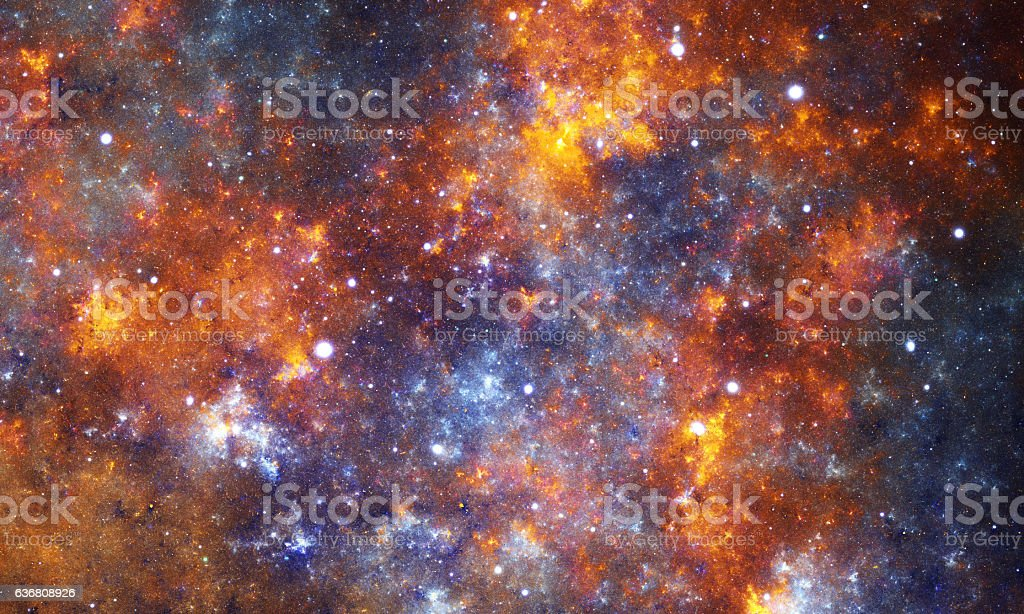 Orange nebula stock photo