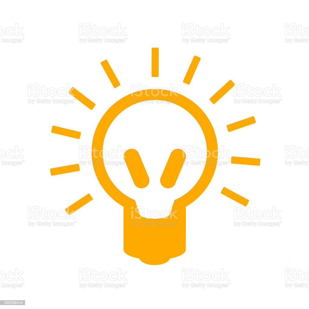 Orange Neon light isolated on white stock photo