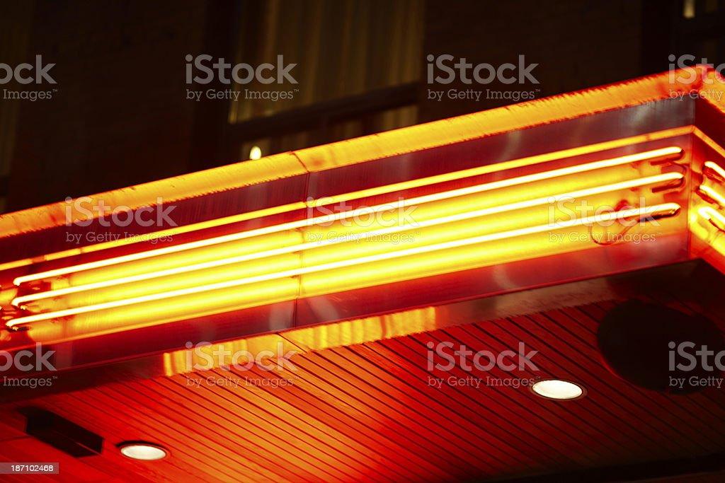 Orange neon lights at night royalty-free stock photo