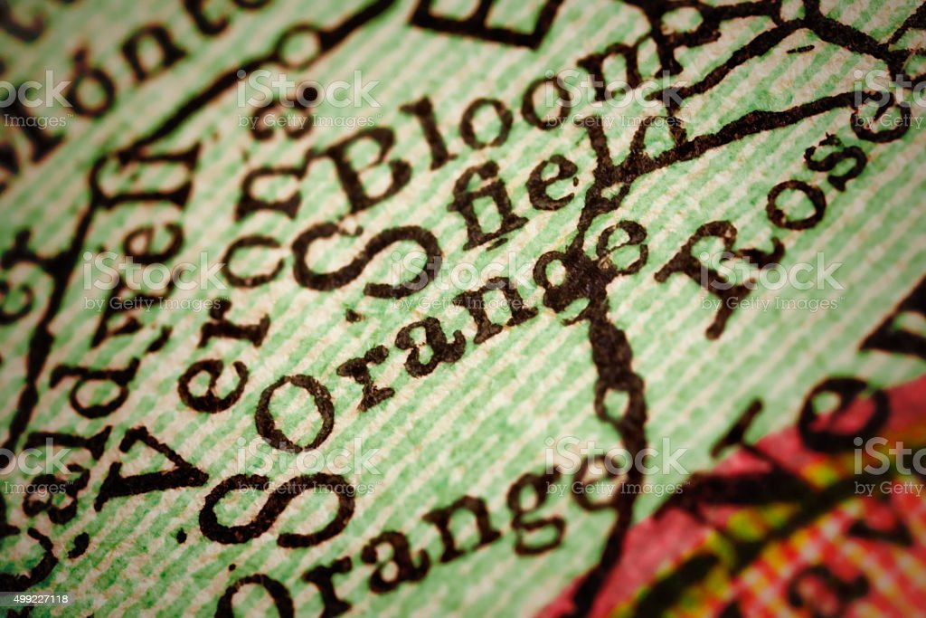 Orange   New Jersey on an Antique map stock photo