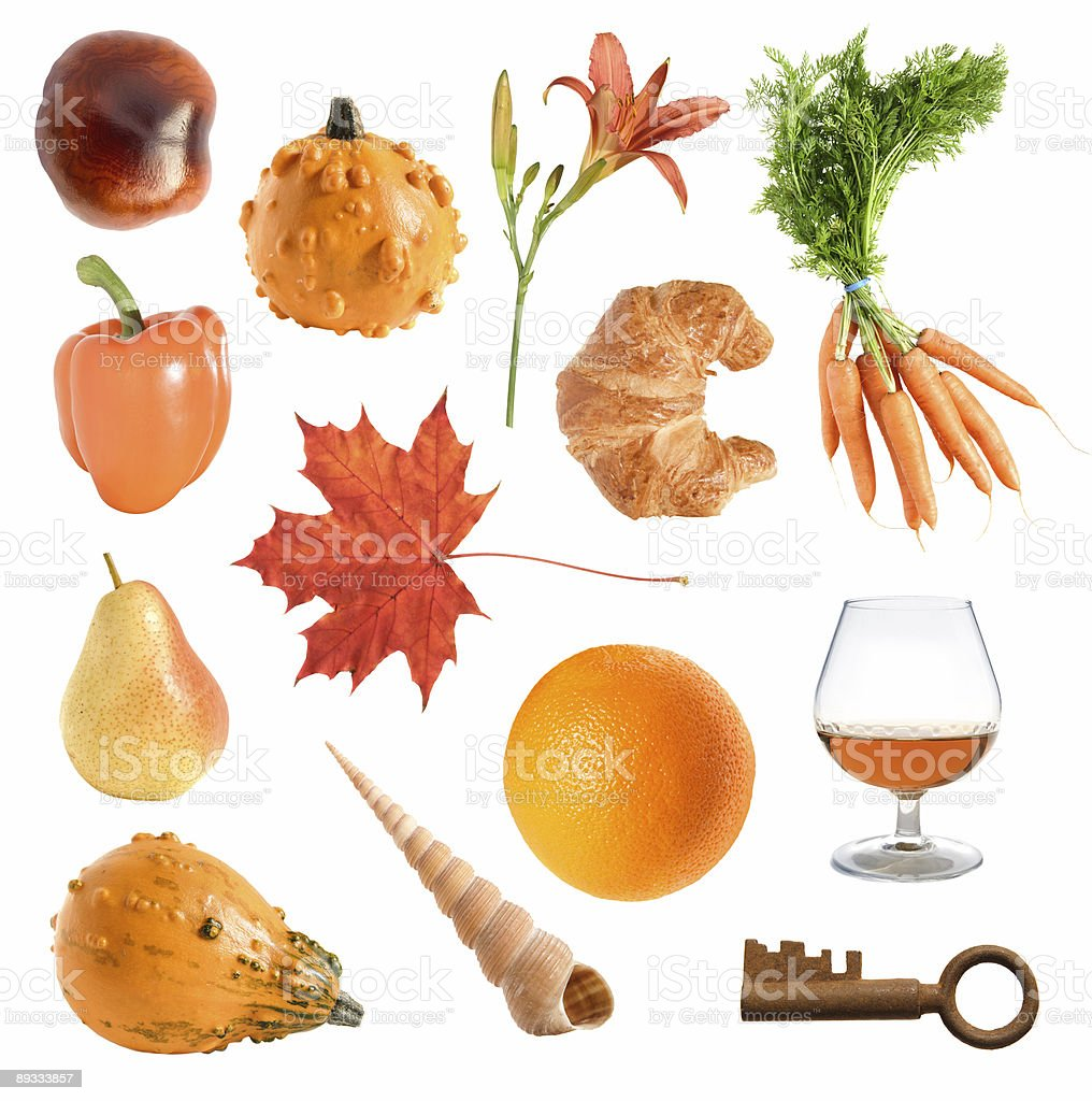 orange objects collection royalty-free stock photo