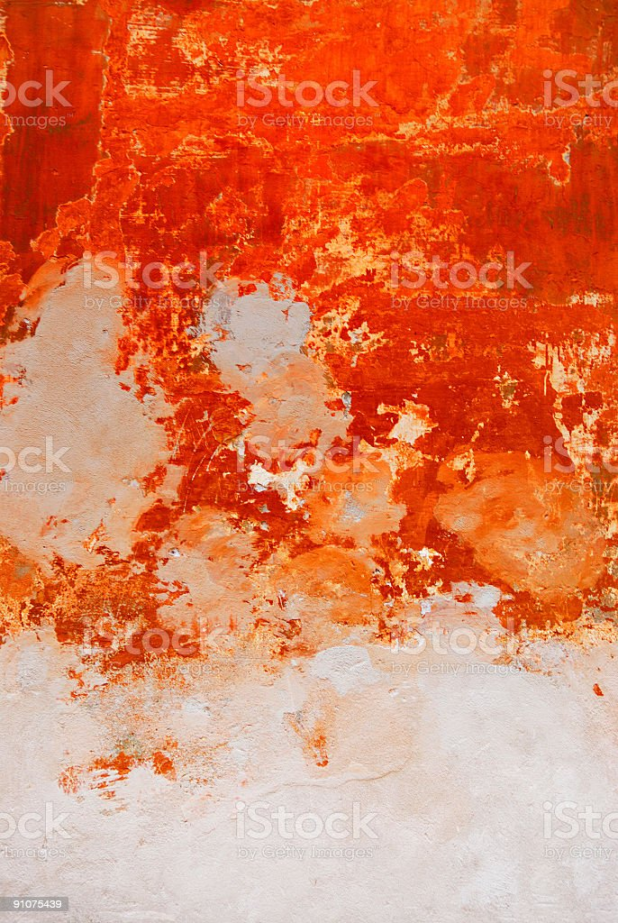 orange old wall royalty-free stock photo