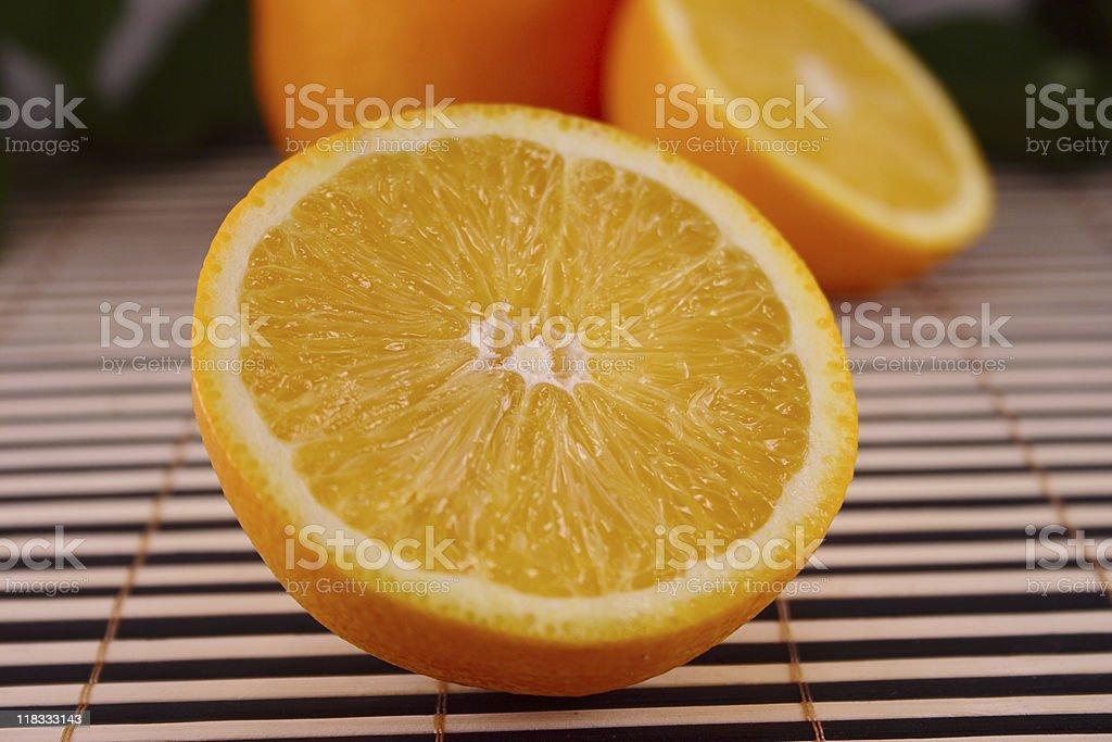 Orange na drewnianym Serwetka zbiór zdjęć royalty-free