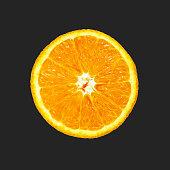 Orange on grey background