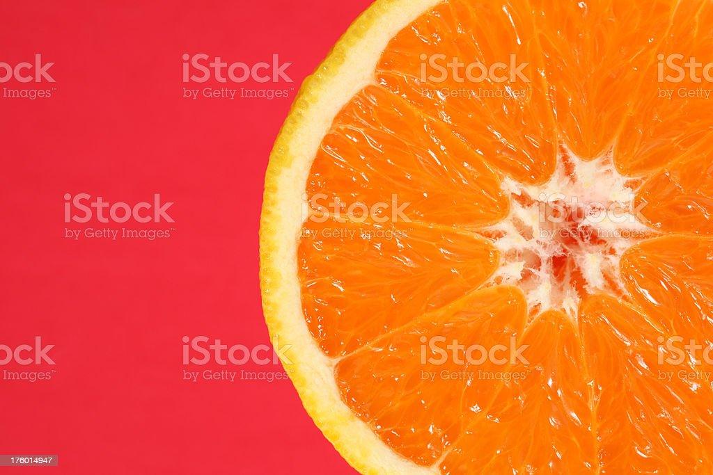 Orange on Red royalty-free stock photo