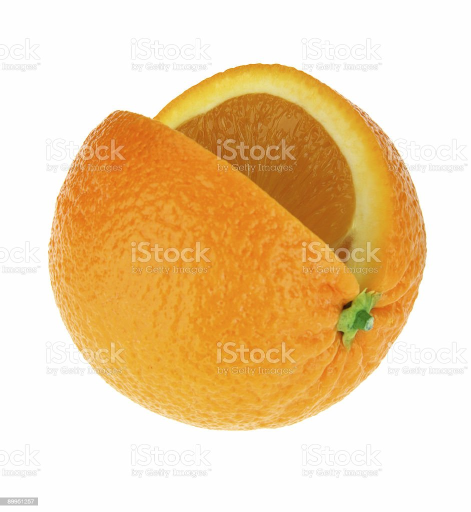 Orange on white background royalty-free stock photo