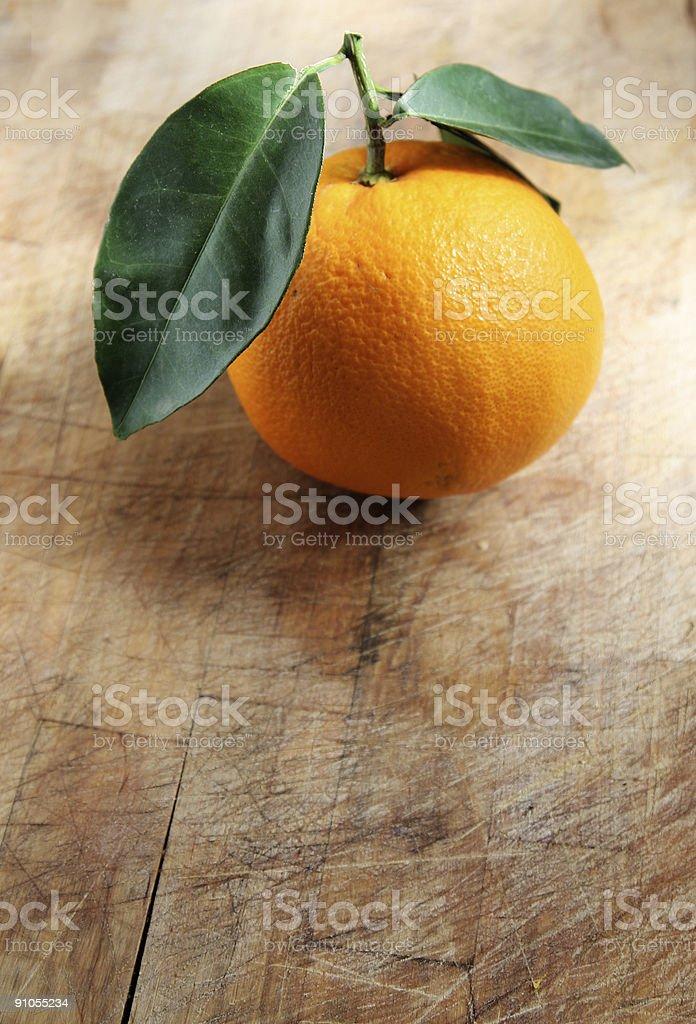 Orange on Wood royalty-free stock photo