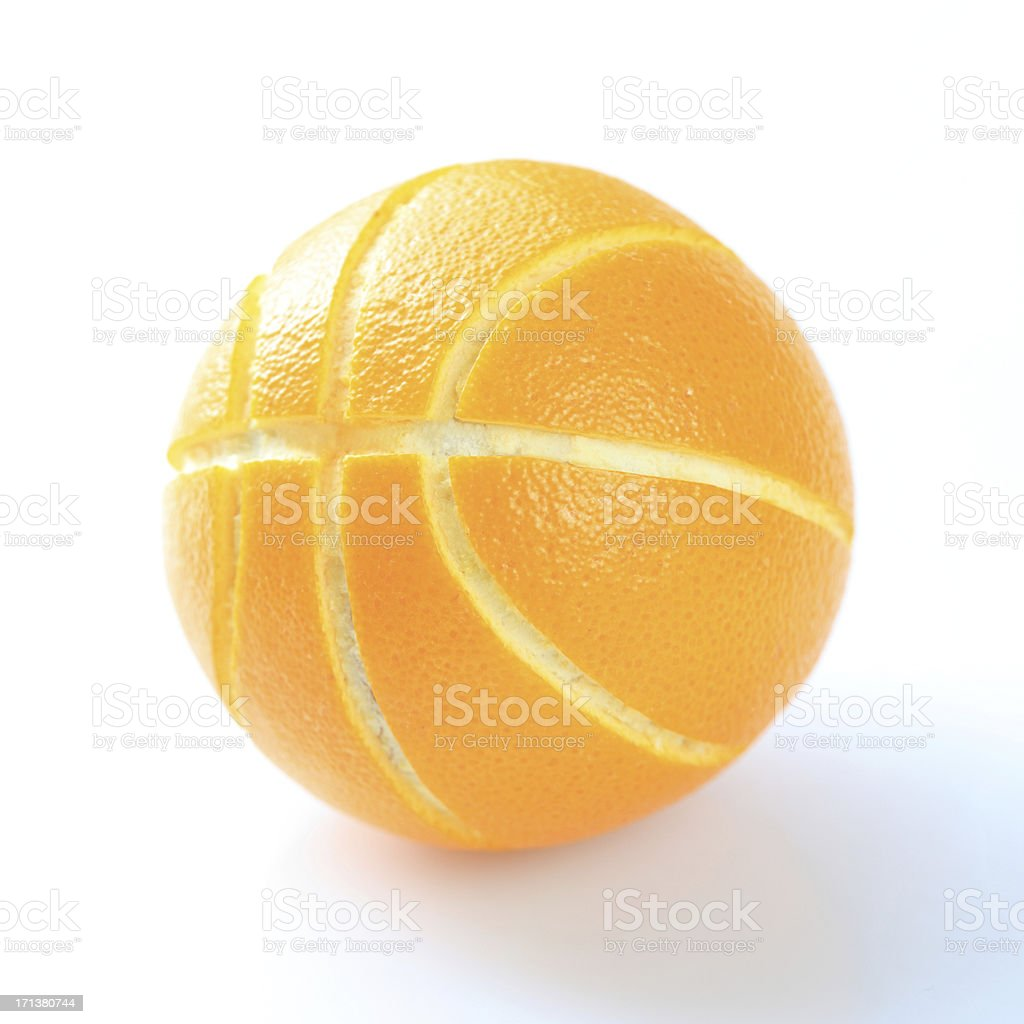 Orange or basketball stock photo