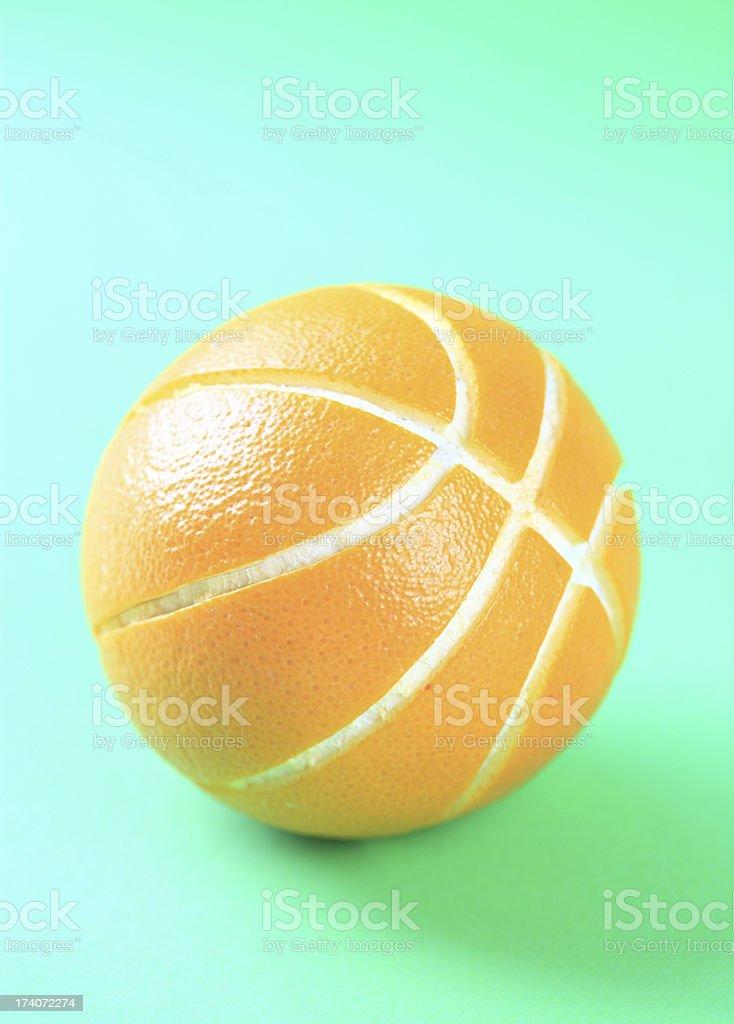 Orange or basketball royalty-free stock photo