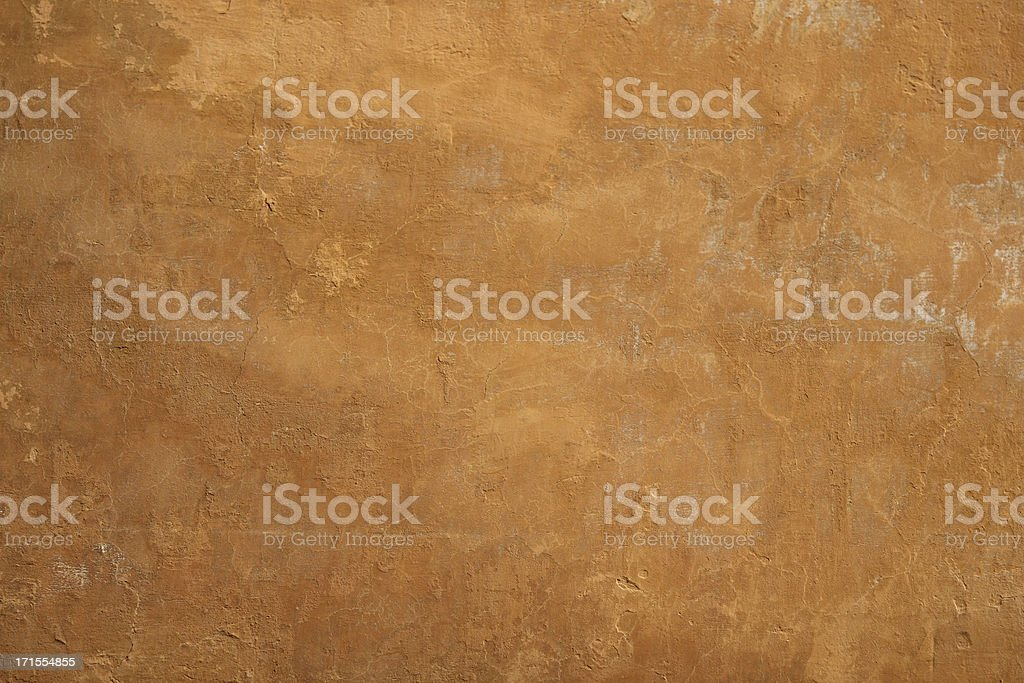 Orange or brown Roman wall, Rome Italy royalty-free stock photo