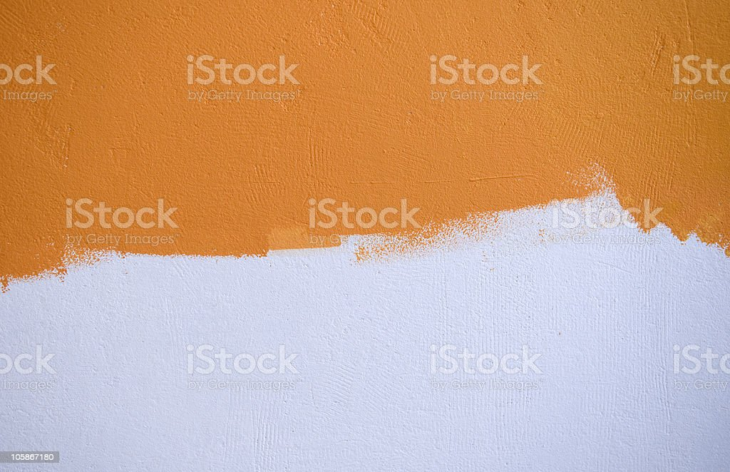 Orange Over White royalty-free stock photo