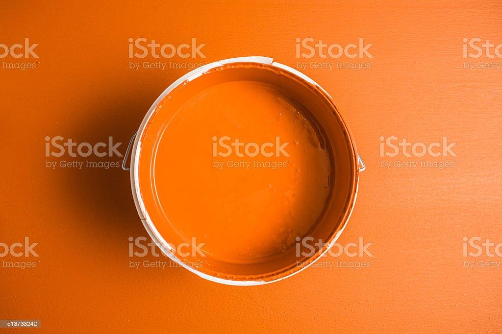 Orange paint box stock photo