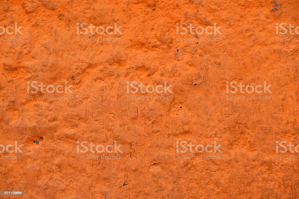 Orange painted old dirty wall royalty-free stock photo