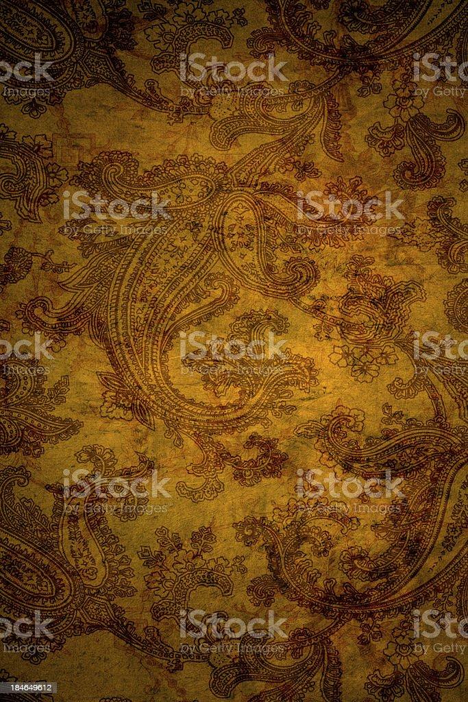 Orange Paisley Background royalty-free stock photo