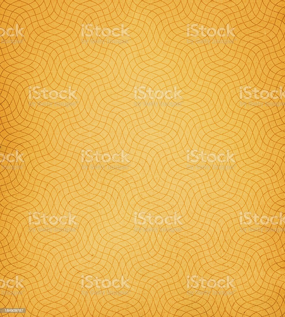 orange paper with distorted wireframe stock photo