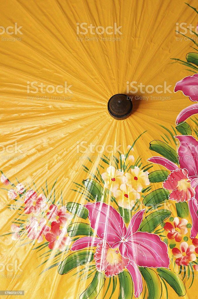 Orange parasol. royalty-free stock photo