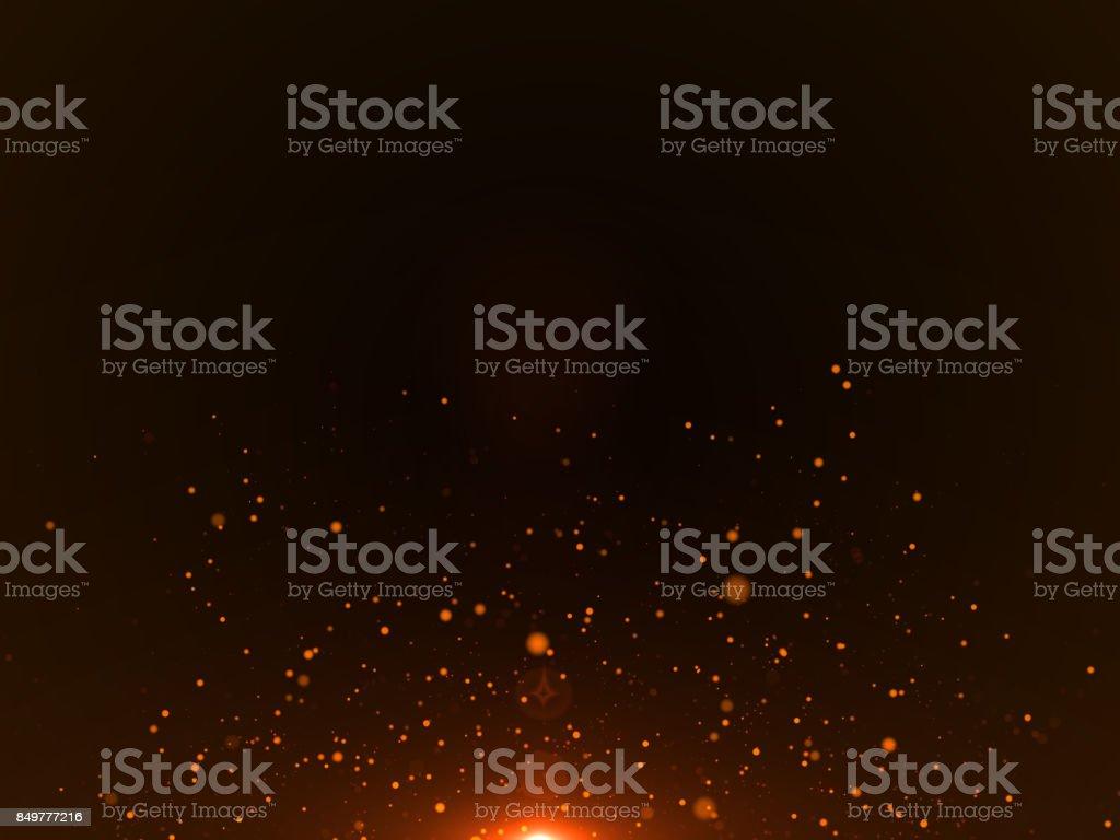 Orange Particles Background - Stock image stock photo