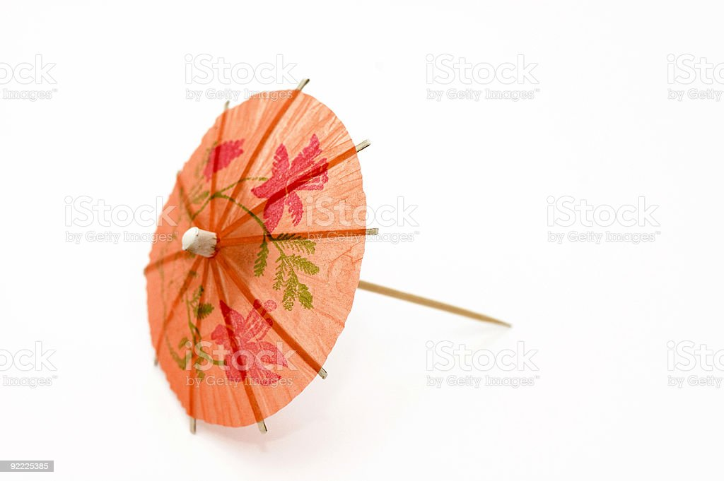 Orange Party Umbrella royalty-free stock photo