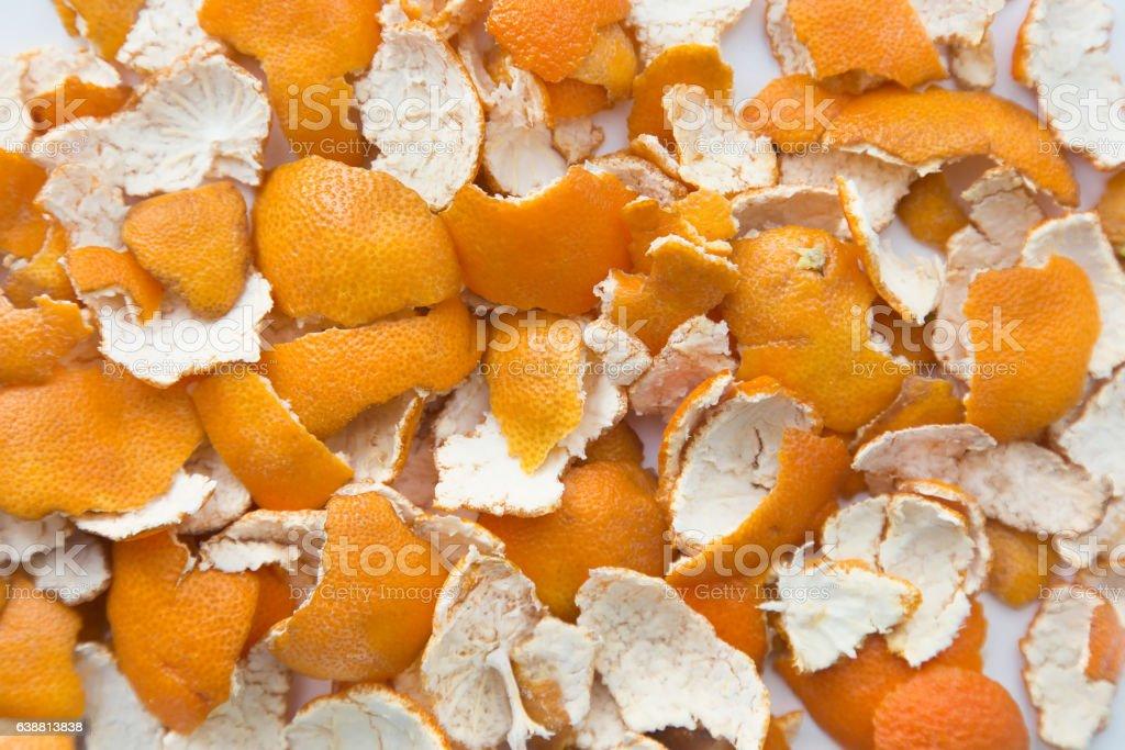 Orange peel. background stock photo