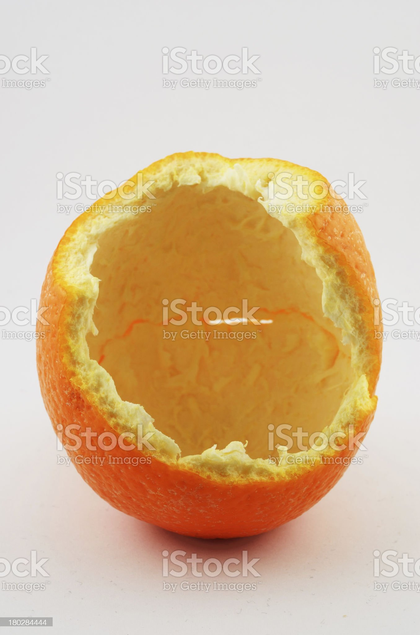 orange peel on a neutral background royalty-free stock photo