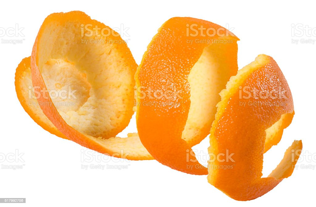 Orange Peel(+clipping path) stock photo
