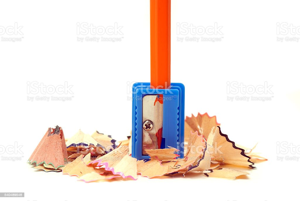 orange pencil royalty-free stock photo