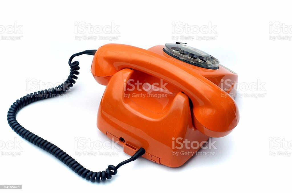 Orange Phone 4 royalty-free stock photo