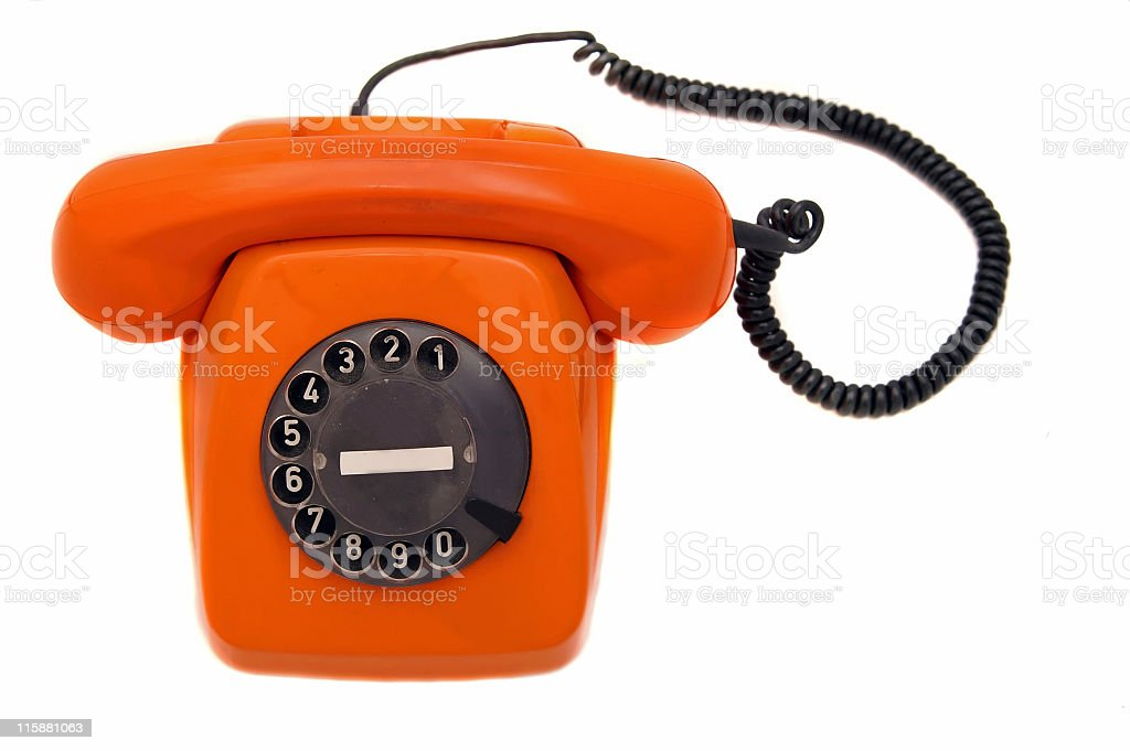 Orange Phone royalty-free stock photo
