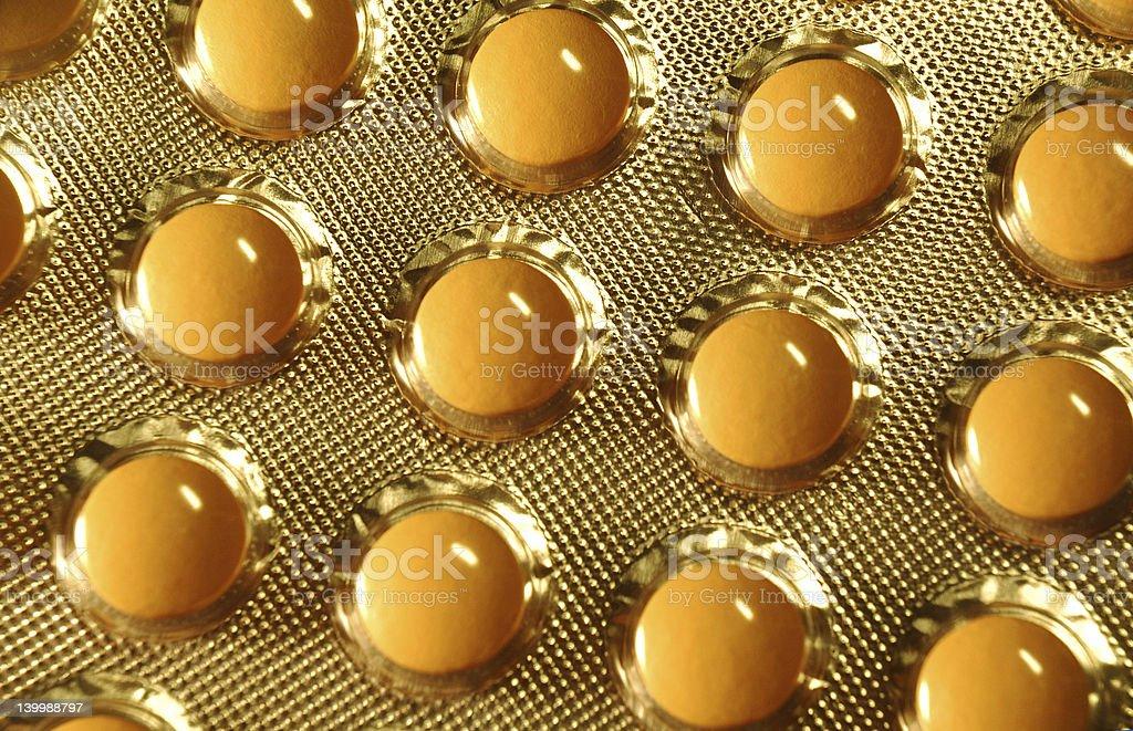 Orange pills stock photo