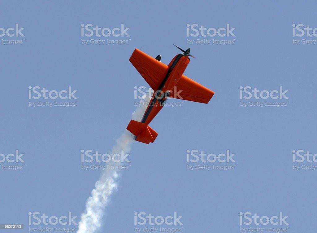 Orange Plane royalty-free stock photo