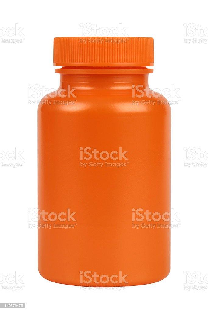 Orange plastic jar royalty-free stock photo
