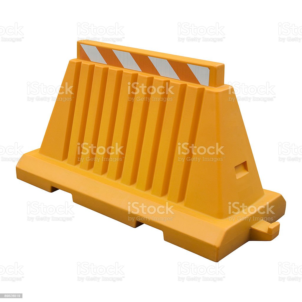 Orange plastic traffic barricade royalty-free stock photo