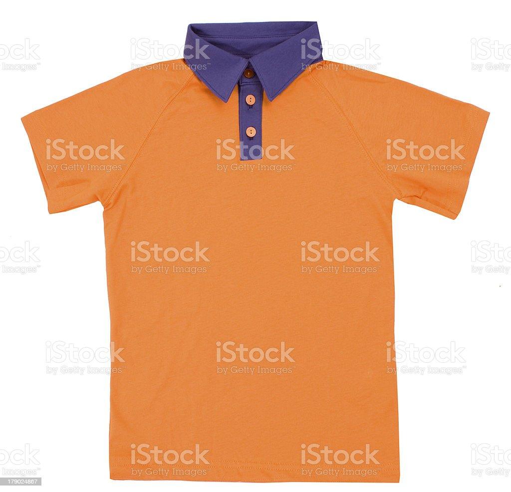 Orange polo shirt for children royalty-free stock photo