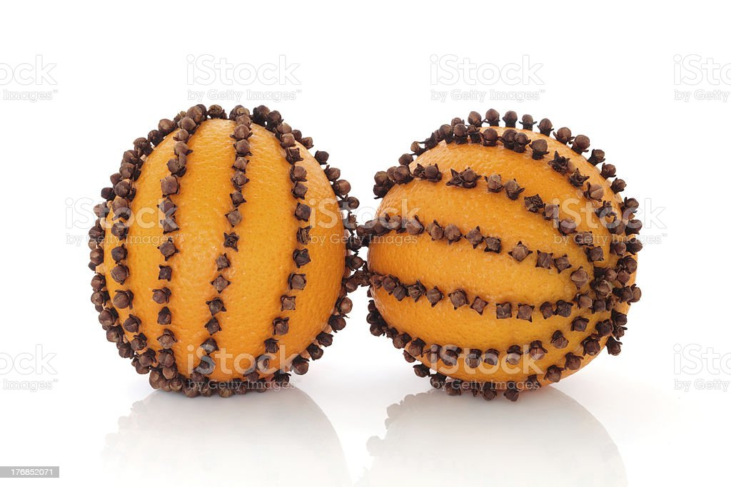 Orange Pomanders stock photo