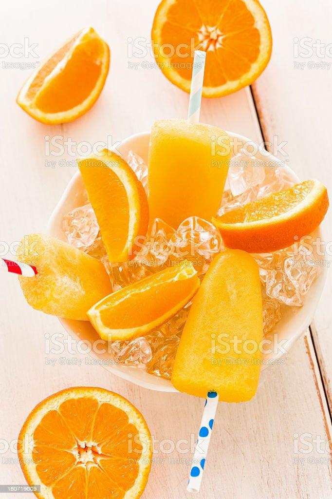 Orange Popsicles royalty-free stock photo