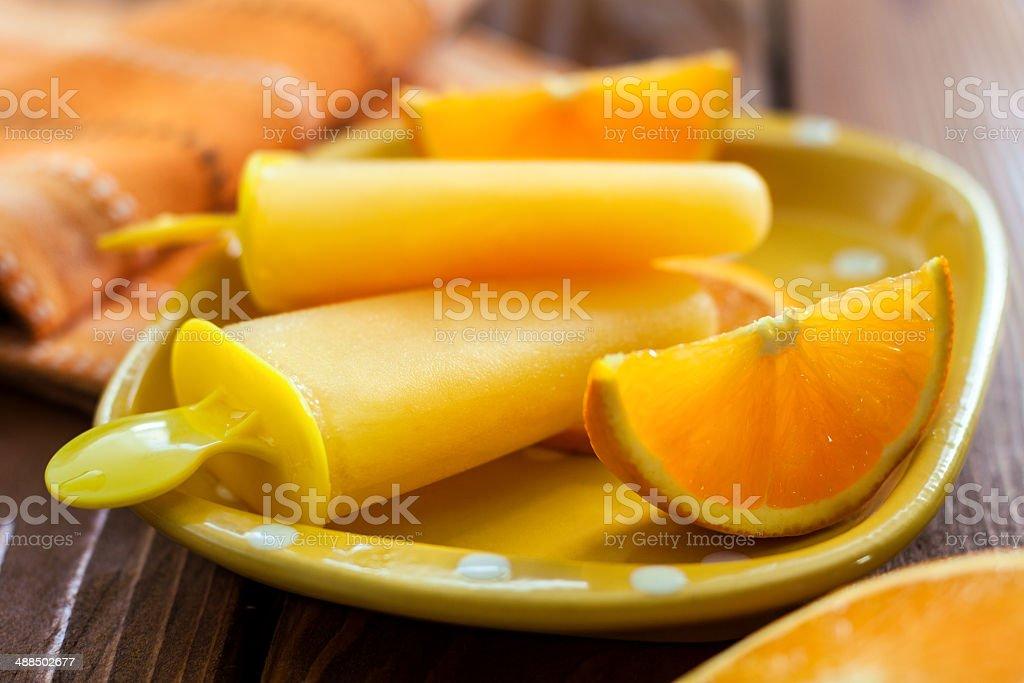 Orange Popsicles stock photo