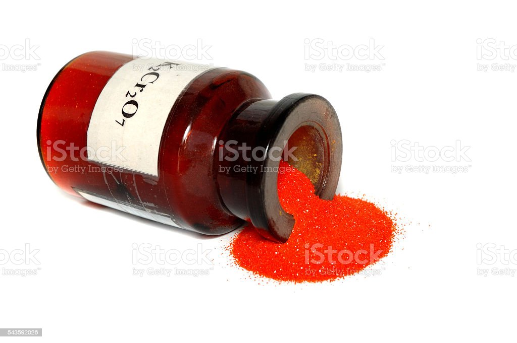 orange powder bank stock photo