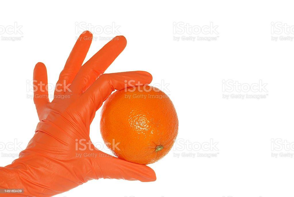 Orange presented! royalty-free stock photo