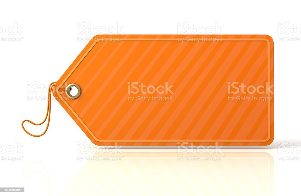 Orange Price Tag royalty-free stock photo