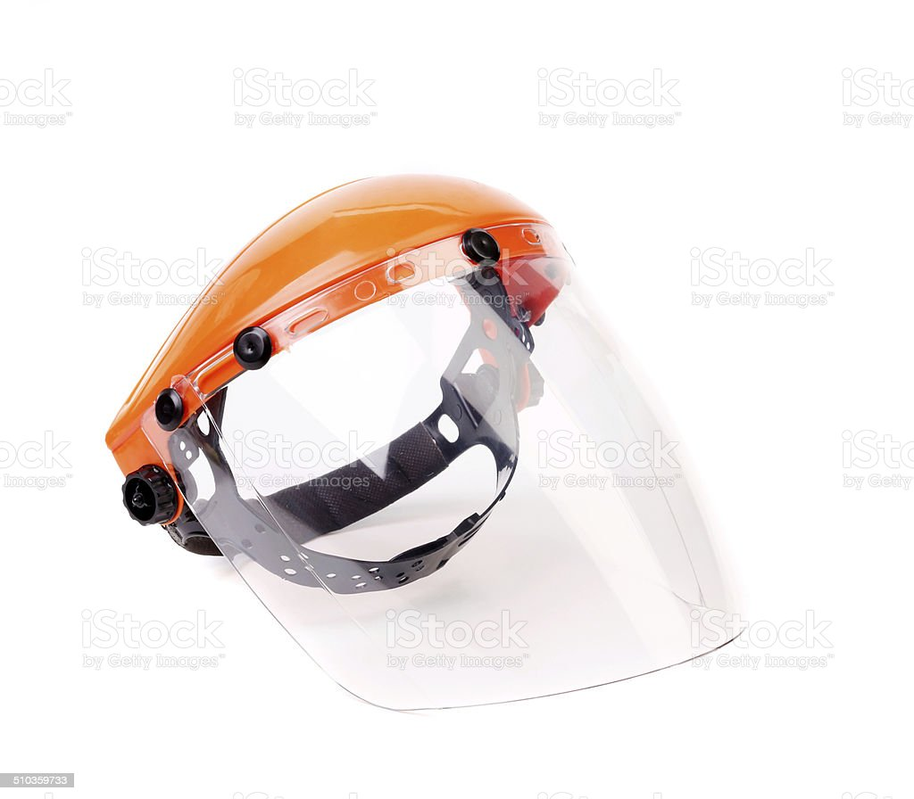 Orange protective mask. stock photo