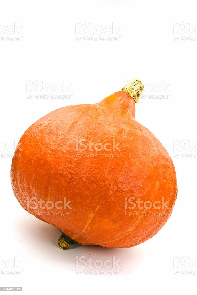orange pumpkin isolated on white. halloween royalty-free stock photo