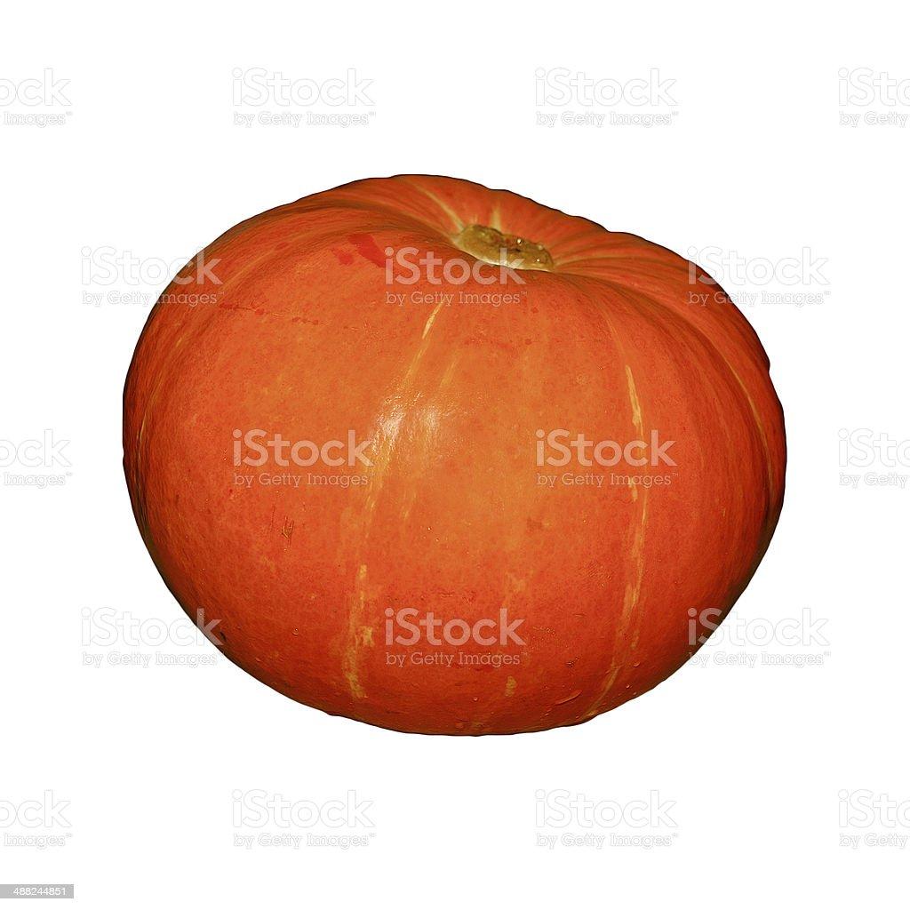 Orange pumpkin isolated stock photo
