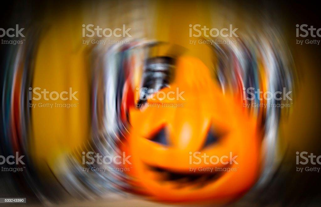 orange pumpkin look like giddy magic stock photo