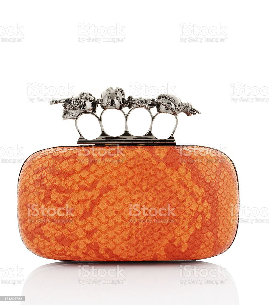 orange purse stock photo