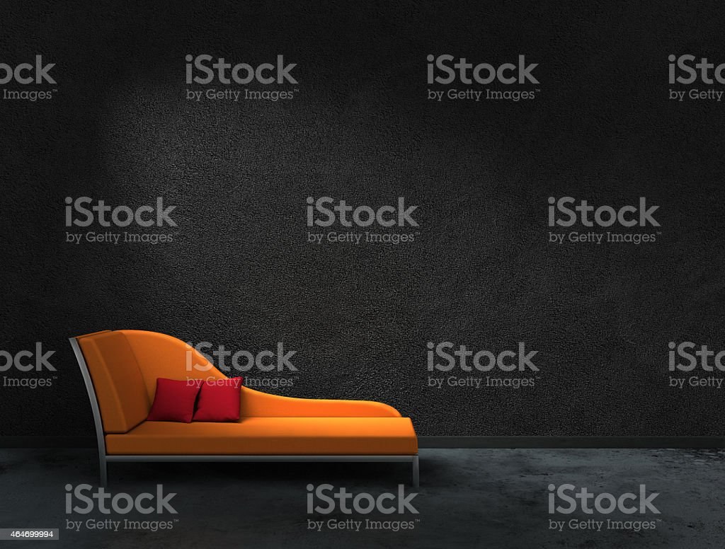 orange recamier stock photo