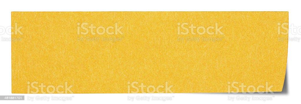 Arancio rettangolare post-it foto stock royalty-free