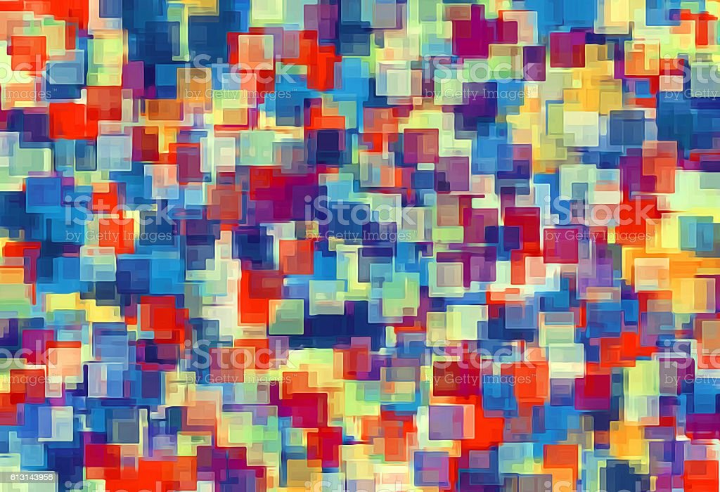 orange red and blue square pattern abstract stock photo