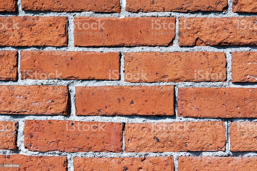 Arancione rosso muro di mattoni foto stock royalty-free
